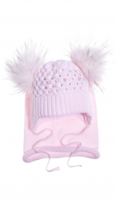 Alice light pink beanie & scarf