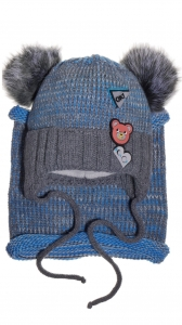 B Bear dark grey beanie & scarf
