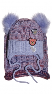 B Bear light blue beanie & scarf