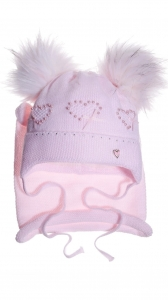 Tracy light pink beanie & scarf